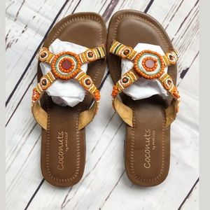 Coconuts by Matisse Trinidad Beaded Sandals Size 8
